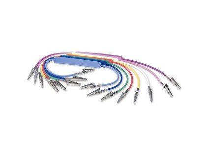 Držák na roušky, plastový, nerezové sponky, 47cm fialový