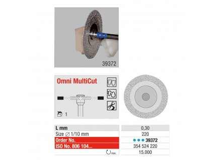 OMNI MultiCut - diamantový disk 0,3mm, pr.22mm