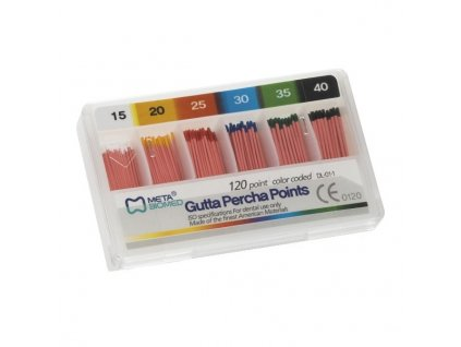 Guttaperčové čepy 2% ISO 045-080