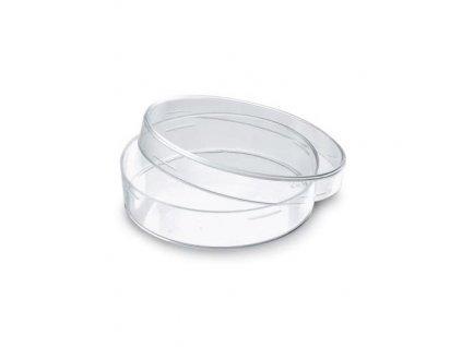 Petriho miska skleněná, 10 cm x 15 mm
