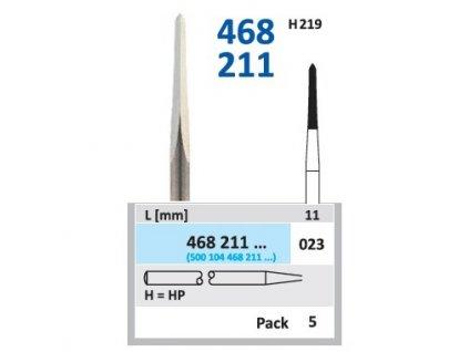 Tvrdokovová fréza - kónus zakulacený, průměr 2,3mm