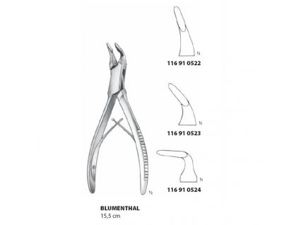 MEDIN Blumenthal kleště štípací na kosti, 15,5cm, fig.1