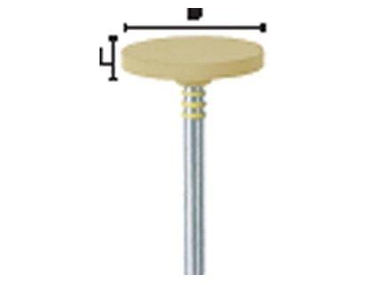 TwisTec montované leštící nástroje pro keramiku, kolečko malé, 2101