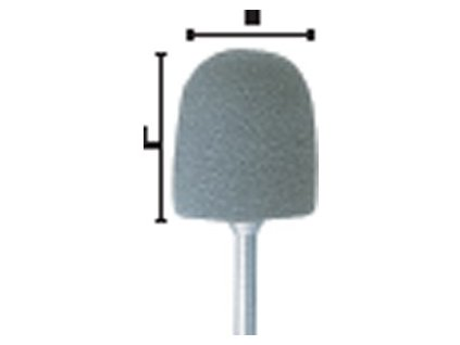 TwisTec montované leštící nástroje, Denture Resin, cylindr zakulacený, 2201