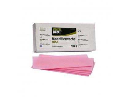 OMNI Modelovácí vosk růžový, zimní, 1,25mm, 500g