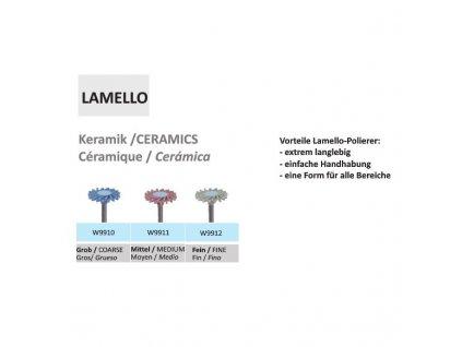 Leštící guma Lamello Keramik W9911 5ks