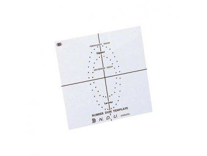 FIT Kofferdam - šablona děrovací 15 x 15 cm