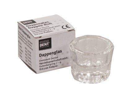 OMNI Desetihranná sklenička transparentní