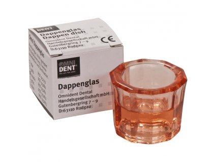 OMNI Desetihranná sklenička růžová
