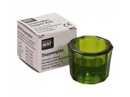 OMNI Desetihranná sklenička zelená