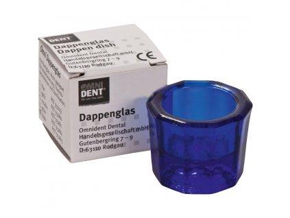 OMNI Desetihranná sklenička modrá