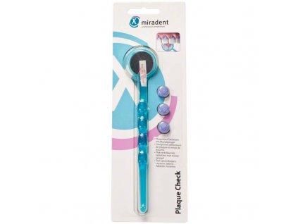 Miradent Plaque Check modré dentální zrcátko + tablety