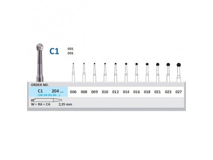 HORICO tvrdokovový vrtáček - kulička, C1204 (W)