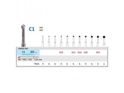 HORICO tvrdokovový vrtáček - kulička, C1205 (WL)