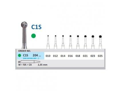 HORICO tvrdokovový vrtáček - kulička, C1S204 (W)