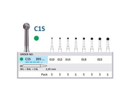 HORICO tvrdokovový vrtáček - kulička, C1S205 (WL)