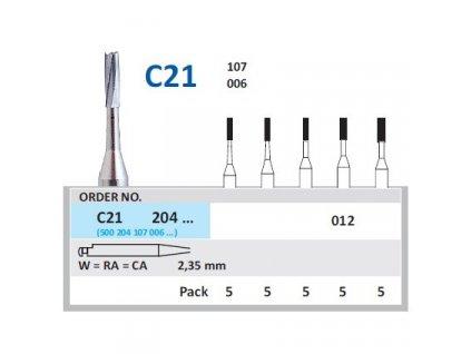 HORICO tvrdokovový vrtáček - cylindr, C21204 (W)