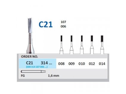 HORICO tvrdokovový vrtáček - cylindr, C21314 (FG)