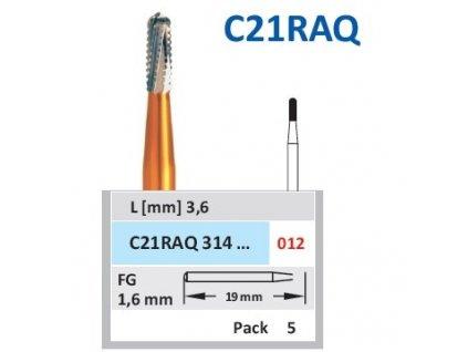HORICO tvrdokovový vrtáček - cylindr zakulacený, C21RAQ, průměr 1,2mm