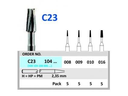 HORICO tvrdokovový vrtáček - kónus, C23104, průměr 0,9mm