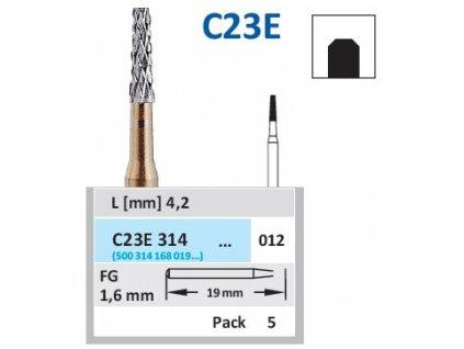 HORICO tvrdokovový vrtáček - kónus, C23E314 (FG), ø 1,2mm