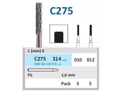 HORICO Tvrdokovová finírka - cylindr, C275314, průměr 1,2mm