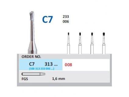 HORICO tvrdokovový vrtáček - hruška, C7313 (FGS), ø 0,8mm