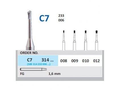 HORICO tvrdokovový vrtáček - hruška, C7314 (FG)
