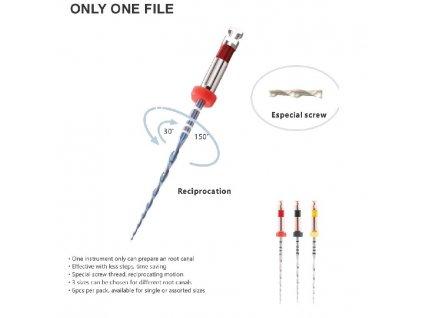 Only One File blue - reciprokační systém, 21mm, R50, 6ks