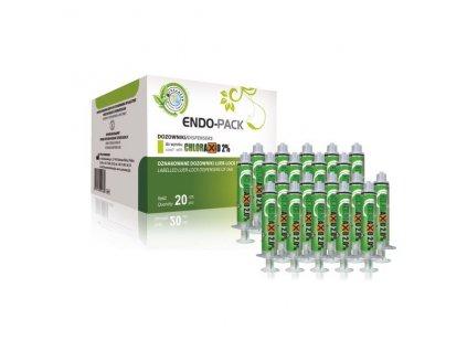 Endo Pack - výplachové stříkačky pro Chloraxid 2%