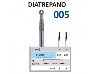 HORICO brousek diamantovaný - Diatrepano, FG005
