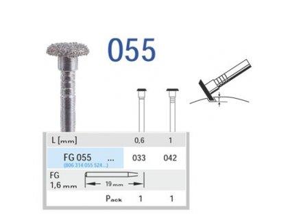 HORICO diamantový brousek pro diagnostické rýhy, FG055