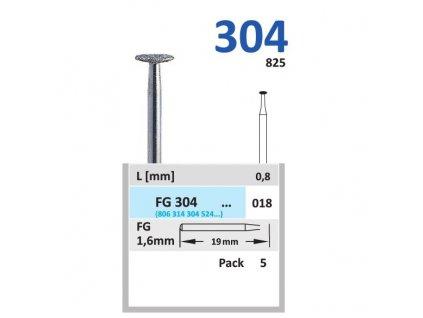 HORICO brousek diamantovaný - čočka, FGL304, Ø 1,8mm