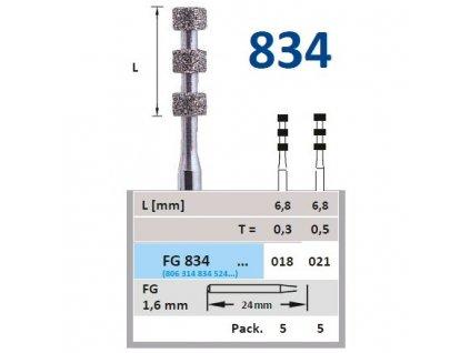HORICO diamantový brousek pro diagnostické rýhy, FG834