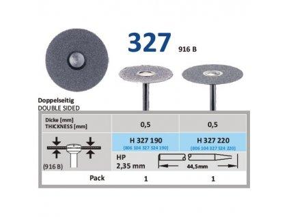 Diamantový disk - oboustranně sypaný, H327, průměr 2,2cm, normal