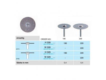 Diamantový disk - sypaný ze spodu, H328, průměr 2,2cm, normal