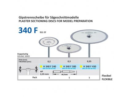 Diamantový disk DIAFLEX - oboustranně sypaný, H340, 2,4cm, extra jemná