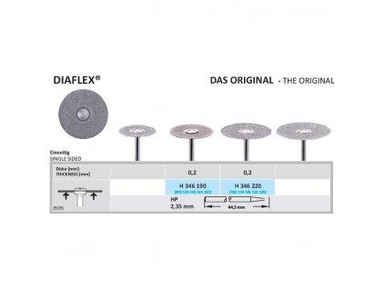 Diamantový disk DIAFLEX - sypaný ze spodu, H346, 2,2cm, normal