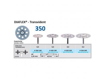Diamantový disk DIAFLEX Transvident - oboustranně sypaný, 2,2cm, normal