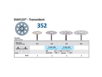 Diamantový disk DIAFLEX Transvident - sypaný shora, 1,9cm, normal
