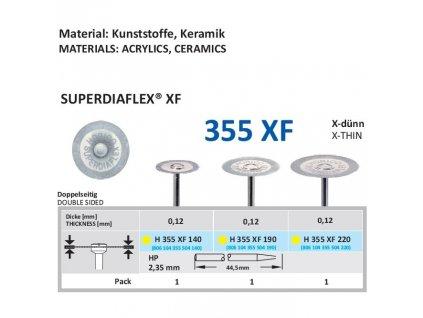 Diamantový disk SUPERDIAFLEX XF - oboustranně sypaný, 1,4cm, extra jemná