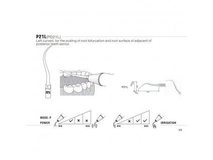 Ultrazvuková koncovka pro DTE/Satelec, PD21L