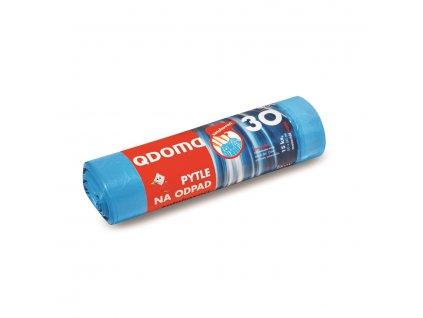 Q-pytle na odpad HDPE 30l, zatahovací, modré