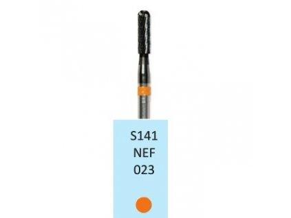 Tvrdokovová fréza - cylindr zakulacený, S141NEF, průměr 2,3mm