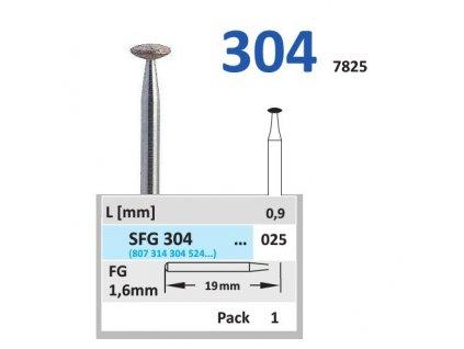 Sintrovaný diamant - čočka, SFG304, průměr 2,5mm, normal