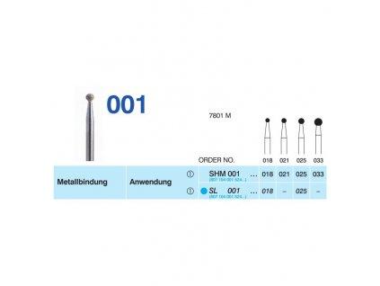 Sintrovaný diamant - kulička, SL001, průměr 2,5mm, zrnitost normal - DOPRODEJ POSLEDNÍCH KUSŮ