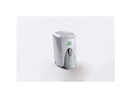 BRASSICA Dávkovač na tekuté mýdlo 500ml, bílý plast s nádržkou