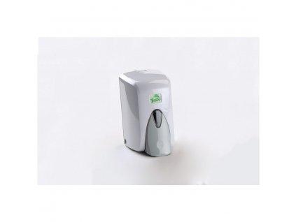 Dávkovač na tekuté mýdlo 500ml, bílý plast s nádržkou