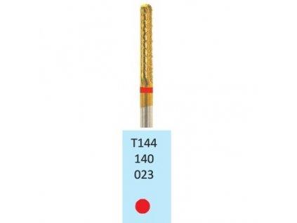 Tvrdokovová fréza s titanovou vrstvou - cylindr zakulacený, T144140, 2,3mm