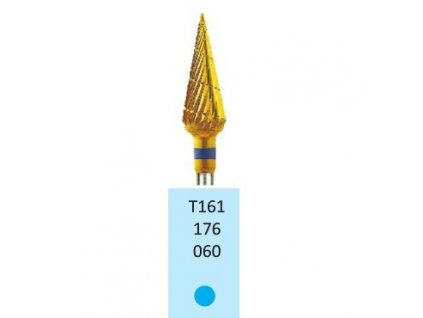 Tvrdokovová fréza s titanovou vrstvou - kónus, T161176, průměr 6mm